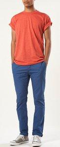 bright skinny pants orange top