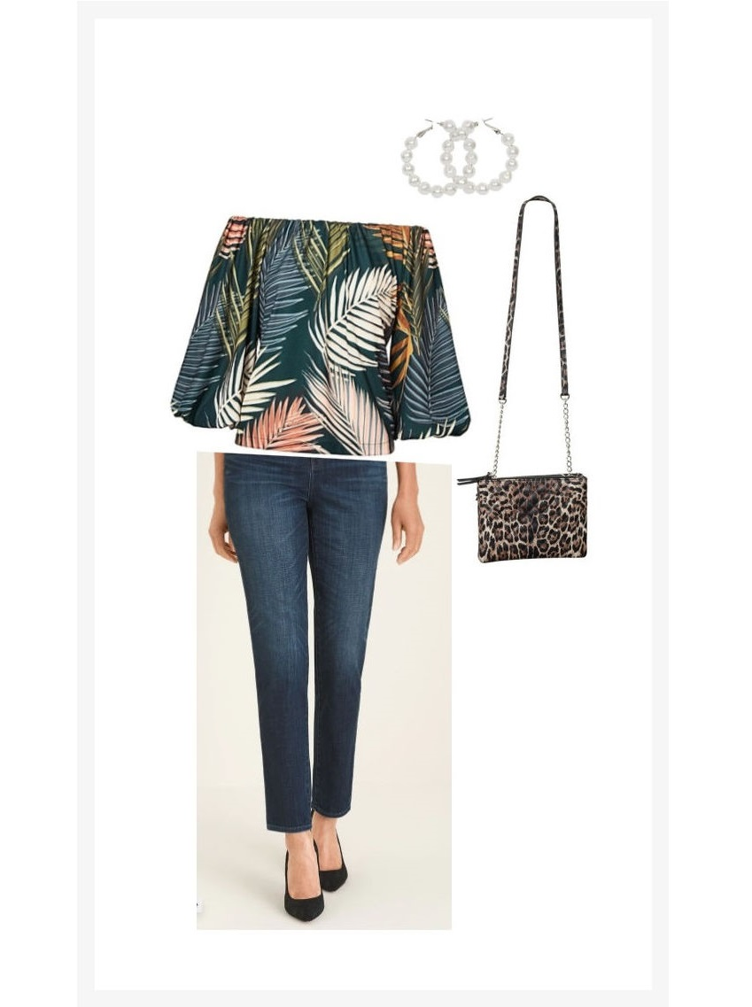 casual evening wear jeans outfit