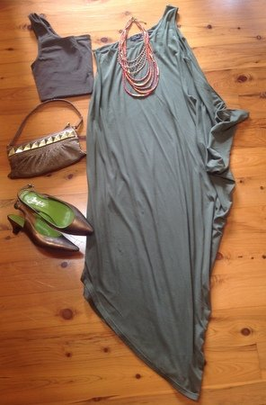 Christmas party outfit ideas green