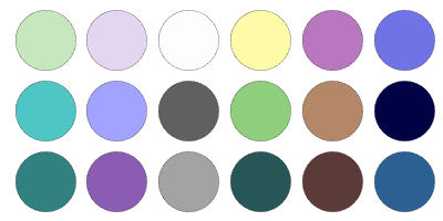 examples of cool muted colors