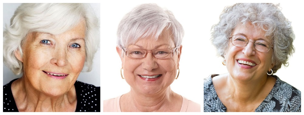 examples of silver-gray hair
