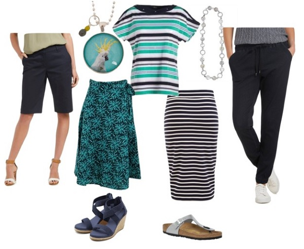 current styling ideas for striped tee
