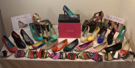 custom handmade shoes party setup