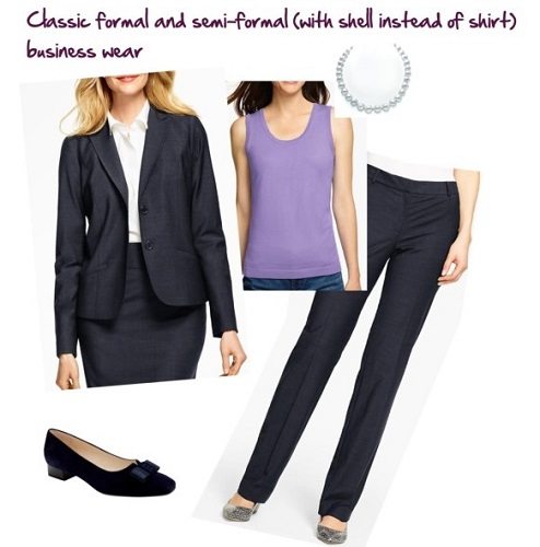 Suit pants in formal and semi-formal business outfits