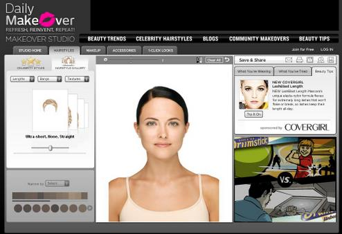 Review Summary: The Daily Makeover allows you to try on virtual makeup and