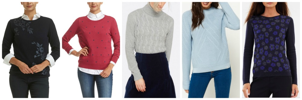patterned jumpers for inverted triangle shape