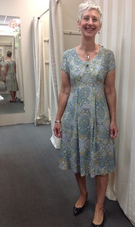 jan in new summer dress