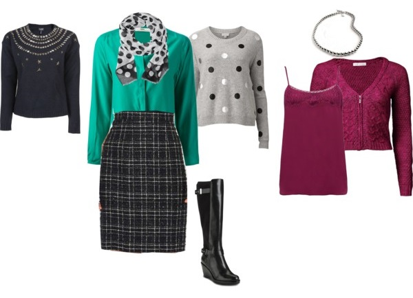 styling ideas for classic chanel pencil skirt