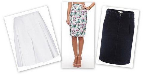 stylish summer pear skirts