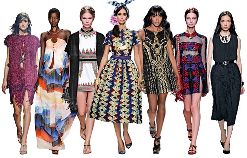 spring summer fashion trend 2014 tribal