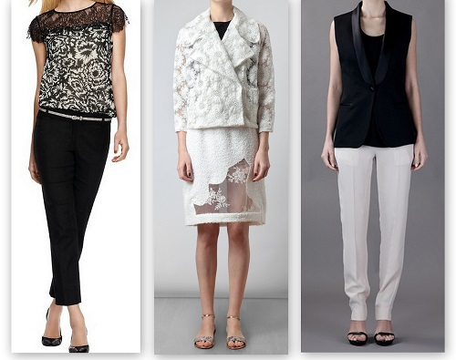 spring summer fashion trends black & white