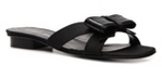 what to wear to evening wedding - flat heeled black sandal