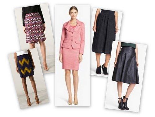 fall winter fashion trend skirts