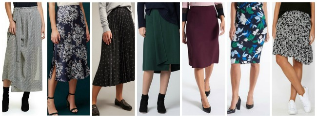 autumn winter fashion trends 2018 Australia & NZ skirts