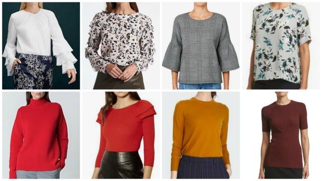 autumn winter fashion trends 2018 Australia & NZ tops