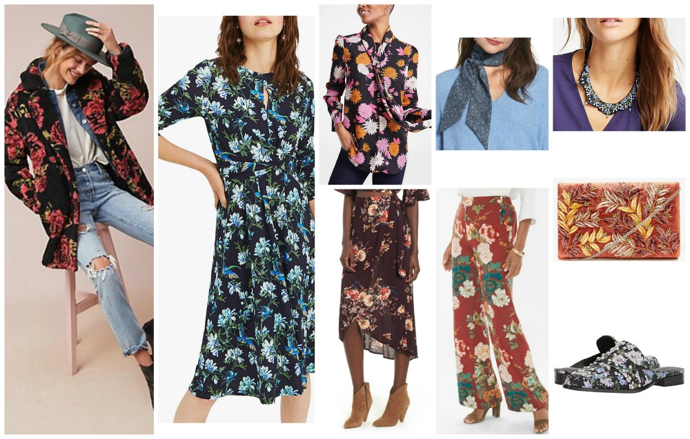 fall winter fashion trends 2018-19 floral prints