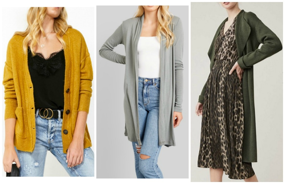 autumn winter cardigan fashion trends 2019 Australia & NZ