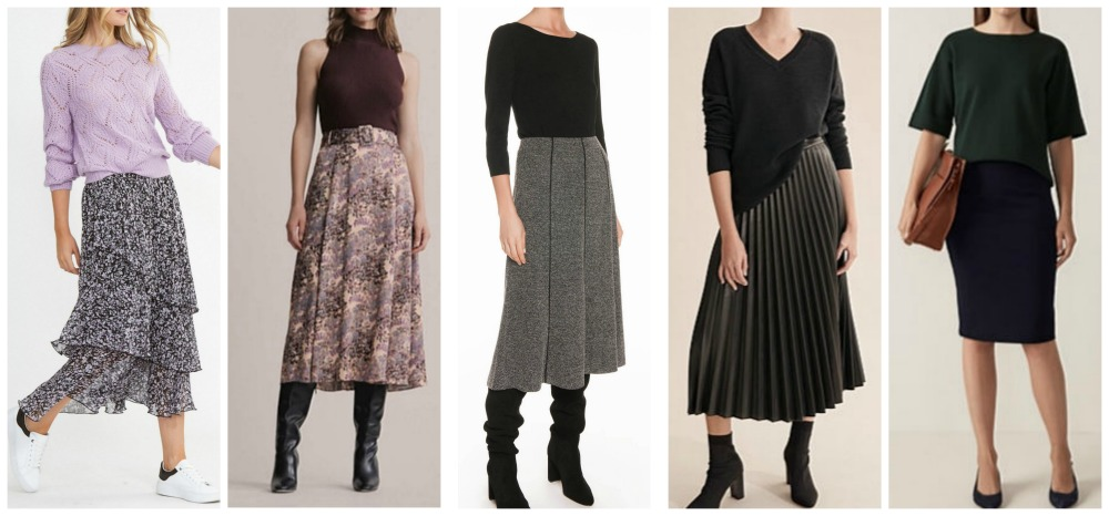 autumn winter fashion trends 2020 Australia & NZ skirts