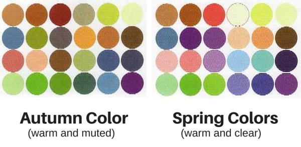 autumn vs spring colors