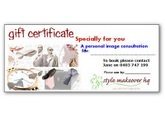 image consultant style makeover gift certificates