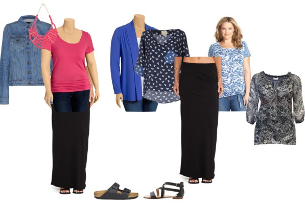more long skirt styling if overweight and short