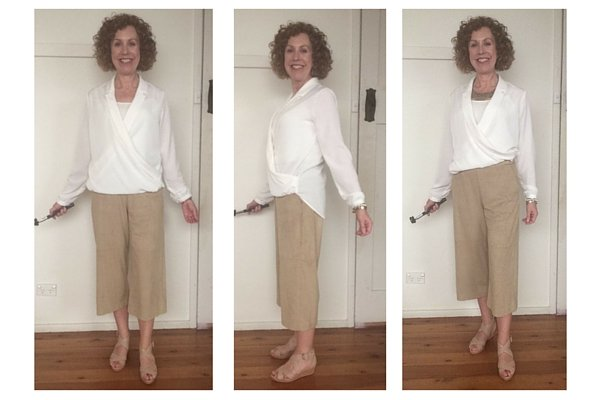 partial tuck on a blouse