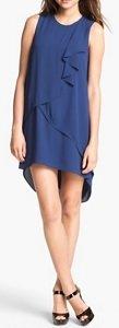 blue ruffle dress
