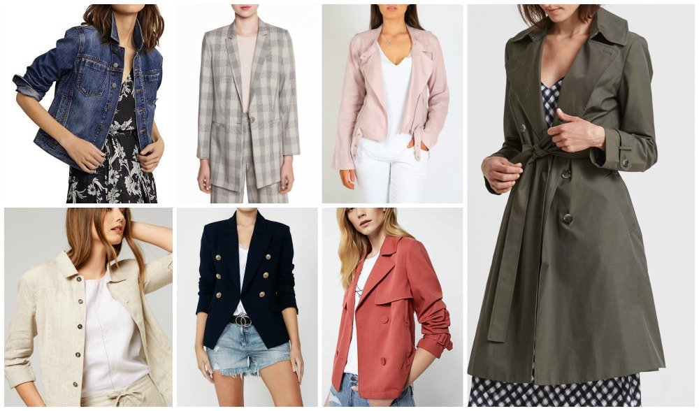 spring summer fashion trends 2018-19 Australia & NZ jackets