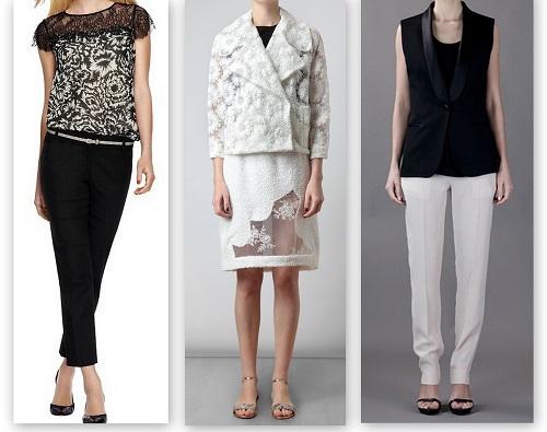 spring summer fashion trends black & white