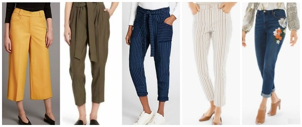 spring summer fashion trends 2017 cropped pants