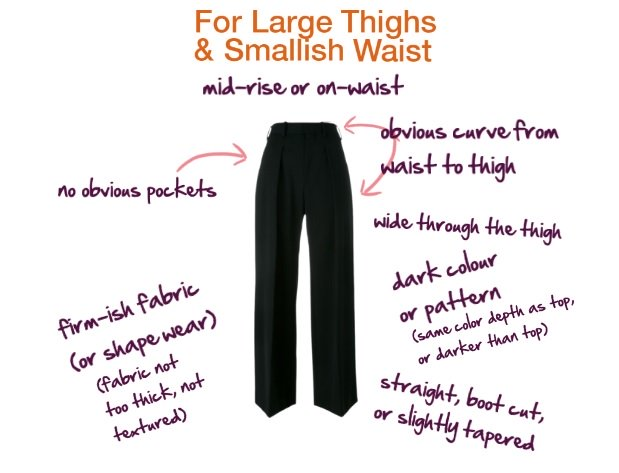 trousers for large thighs and smallish waist