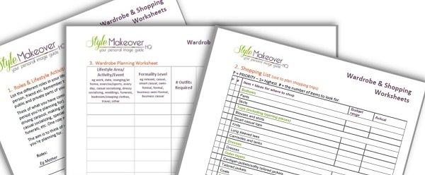 wardrobe planning worksheets