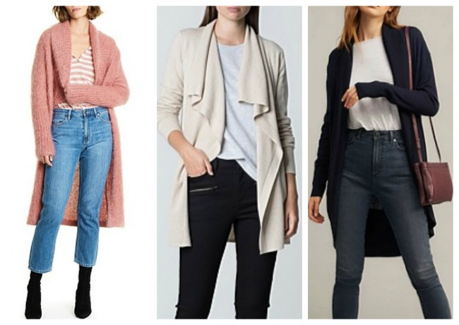 autumn winter fashion trends 2018 Australia & NZ cardigans