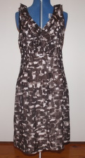 Print, ruffle dress from Gap, UK