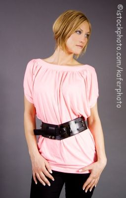 Big Belt on Slim Woman