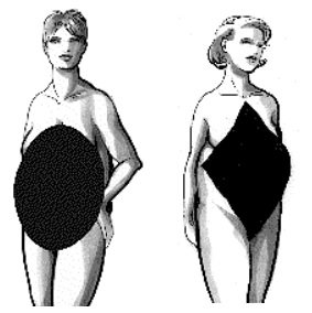 The Apple Horizontal Body Shapes: Oval & Diamond